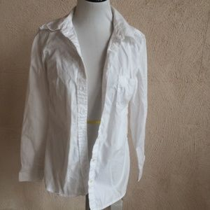 GAP TAILORED SHIRT WHITE BUTTON DOWN S